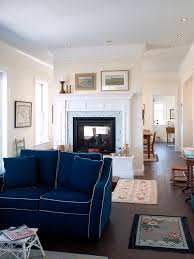 Upholstery Orange County Navy Blue Sofa Living Room Transitional With Traditional Area Rugs