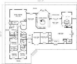 ranch style house plan 4 beds 4 50 baths 5037 sq ft plan 1 931