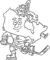 canadian hockey player coloring free printable
