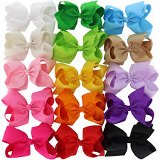 amazon com 40 pack 3 5 inch hair bows girls children grosgrain