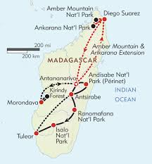 Map Of Madagascar Madagascar Off The Beaten Path Itinerary U0026 Map Wilderness Travel