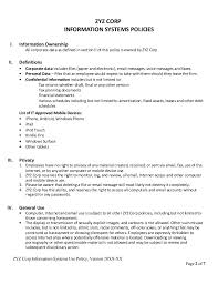 Rpn Sample Resume It Policies Templates 28 Images Sle It Security Policy