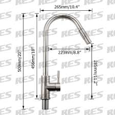lead free sus 304 stainless steel pull down kitchen faucet single