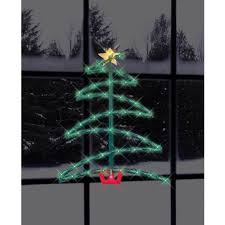 lighted christmas tree 17 5 lighted christmas tree silhouette walmart