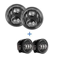round led lights for jeep j w speaker j series 7 round led headlights fog lights jeep