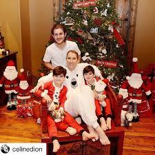 family christmas dion s family christmas photos from 2016 popsugar