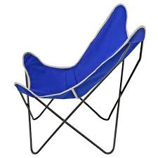 Outdoor Sling Chairs Steele Butterfly Sling Chair Cobalt Steele Canvas Basket Corp
