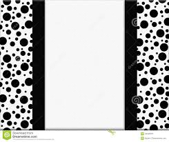 black and white polka dot ribbon black and white polka dot frame with ribbon background illustration