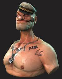 popeye the sailor popeye the sailor 3d asset cgtrader