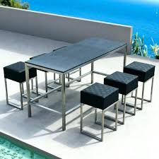 Patio Table Bar Height Outdoor Bar Height Table Awesome Patio Bar Dining Set Outdoor Bar