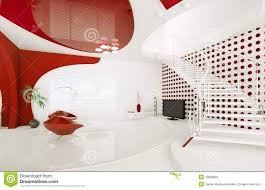 modern interior design of living room 3d render stock illustration