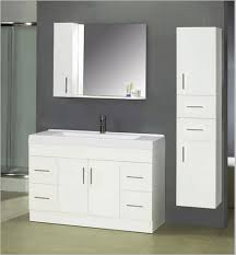 great modern bathroom wall cabinet design with white glossy accent