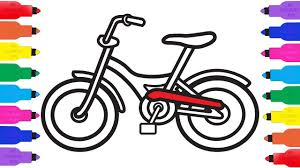 how to draw bicycle coloring pages for kids k bicycle art