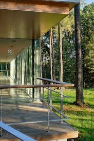 glass pavilion see though glass box house has best views of the forest