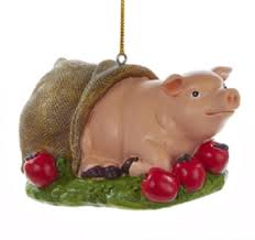 christmas pig 3 decorative pig in a blanket farm animal christmas ornament