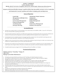 Sample Resume Objectives Construction Management by Resume Maintenance Manager Resume