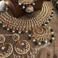 bridal necklace images Kundan bridal necklace set happy shappy jpeg
