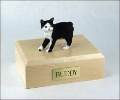 cat urn white manx cat urn