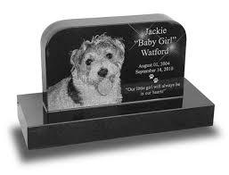 pet headstones small standard upright laser engraved pet headstone