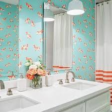 blue and orange kids bathroom design ideas