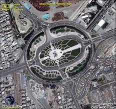 tehran satellite map quickbird satellite image azadi tower iran satellite imaging corp