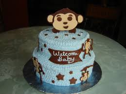 monkey baby shower theme plain decoration monkey baby shower cakes excellent idea cake