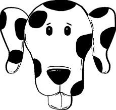 dog face coloring page aecost net aecost net