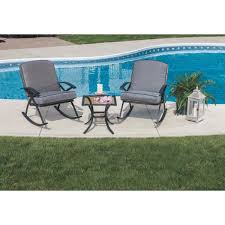 Chat Set Patio Furniture - outdoor expressions hudson mills 3 piece rocker chat set
