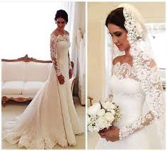 lace wedding gown vintage sleeve lace wedding dresses the shoulder garden