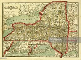 New York State Map New York State Old Map Stock Illustration Getty Images