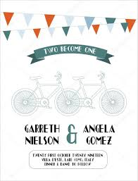 wedding invitation card bicycle template u2014 stock vector nglyeyee