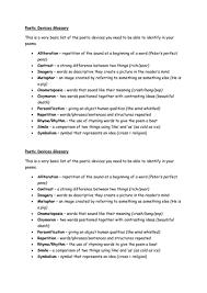 poetic devices revision by biltonstilton teaching resources tes