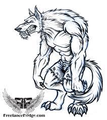 werewolf freelance fridge illustration u0026 character design