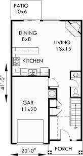 Narrow Lot Duplex Floor Plans by Duplex House Plans Narrow Lot Duplex Design Easily Converts To