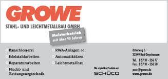 Stadtplan Bad Oeynhausen Growe Stahl Und Leichtmetallbau Gmbh In Bad Oeynhausen