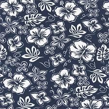 Vintage Drapery Fabric Hibiscus Vintage Indigo Cotton Drapery Fabric By Premier Print Fabrics