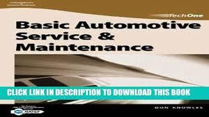 pdf epub techone basic automotive service maintenance full