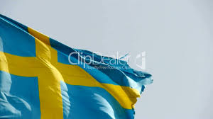 Swidish Flag Sweden Flag Is Fluttering In Wind Royalty Free Video And Stock