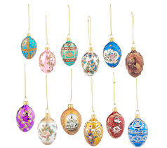 joan rivers set of 12 mini russian inspired egg ornaments page 1