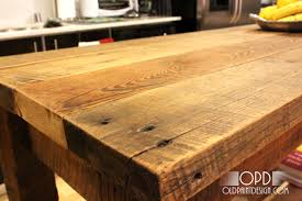 reclaimed wood kitchen island tops kitchen decorations and