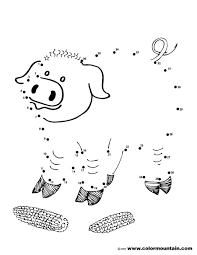 pig dot to dot activity page create a printout or activity