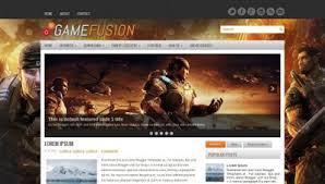 blogger templates free download template games fusion blogger