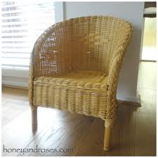 How To Fix Wicker Patio Furniture - how to paint a wicker chair with chalk paint honey u0026 roses