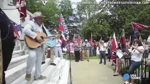 Confederate Flag Alabama Pro Confederate Flag Rally Held In Alabama Youtube