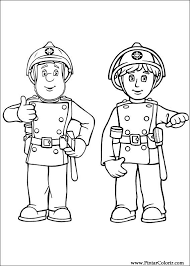 drawings paint u0026 colour fireman sam print design 005