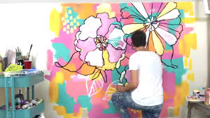 new large and funky floral wall mural short youtube new large and funky floral wall mural short