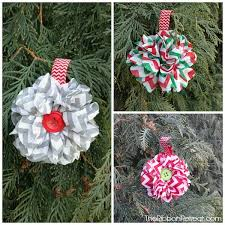 chevron flower ornament the ribbon retreat