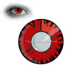contact lens black white lens vampire daemon halloween lens