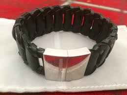 leather armani bracelet images Emporio armani sterling sv925 black leather bracelet for men marikina jpg