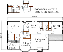 Floor Plan Abbreviations by Cottage Style House Plan 3 Beds 2 00 Baths 1152 Sq Ft Plan 79 135